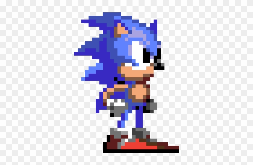 Sonic Sonic The Hedgehog 1991 Pixel Art Hd Png Download 1200x1200 3448658 Pngfind