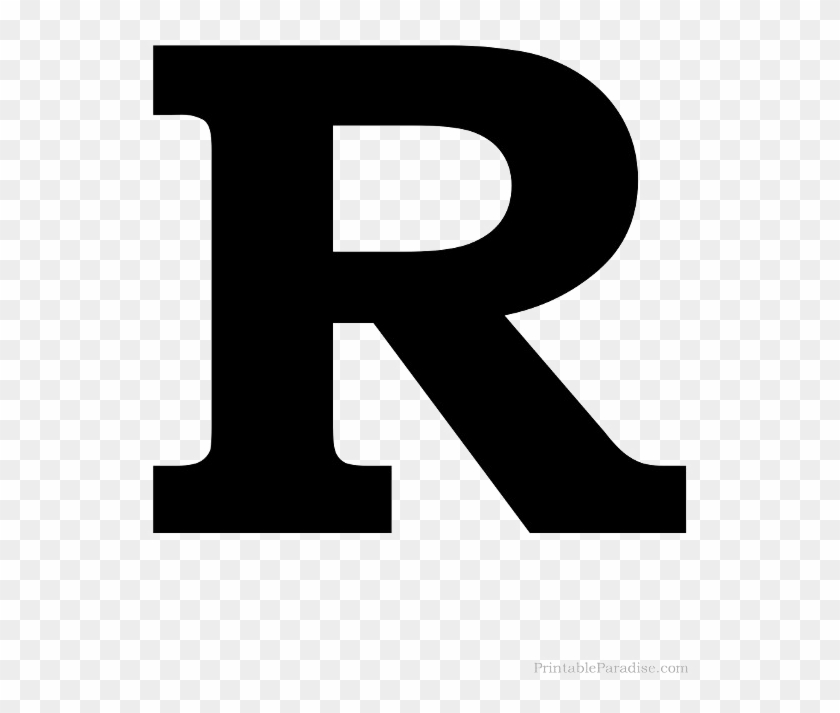 picture regarding Letter R Printable named Pictures Png Arts - Printable Black Letter R, Clear Png