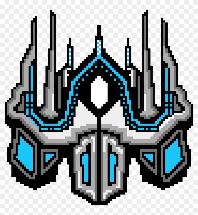 App Rocketship Sprite-final - Rocket Ship Pixel Art, HD Png