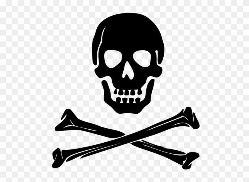 Transparent Skulls Png Clipart Pirate Clip Art Black And White