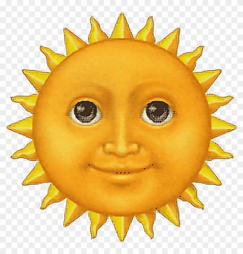 Emoji Sun Face Tumblr Significado Do Emoji Sol Hd Png Download