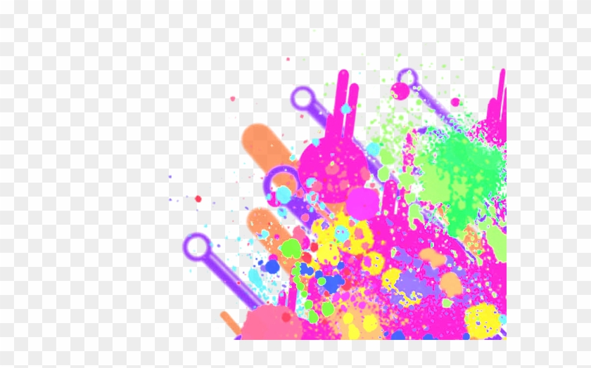 700 X 560 8 - Transparent Neon Paint Splatter, HD Png