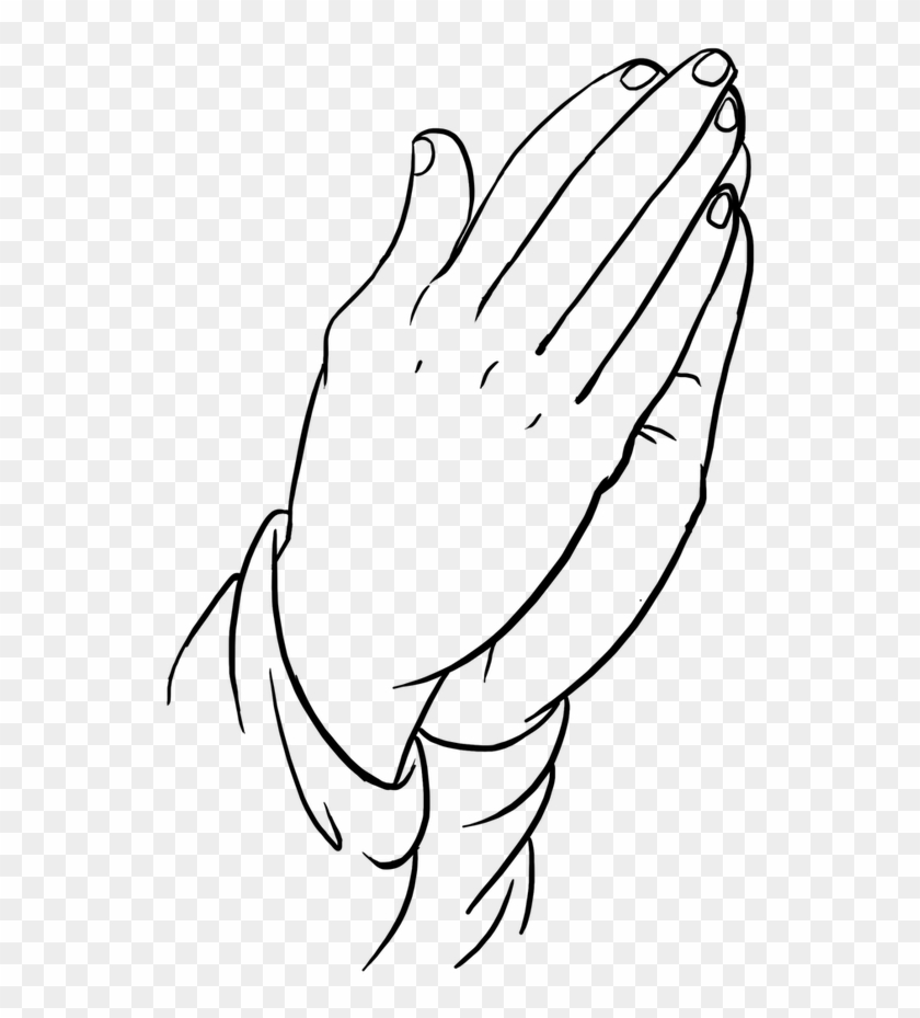 Easy Drawing Guides On Twitter Learn How Praying Hands Drawing Easy Hd Png Download 848x1200 355181 Pngfind