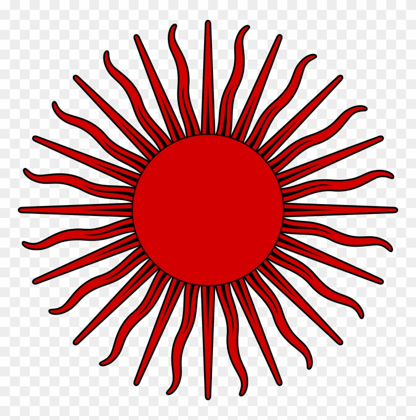 File Sun Symbol Red Flag Of Argentina Sun Hd Png Download