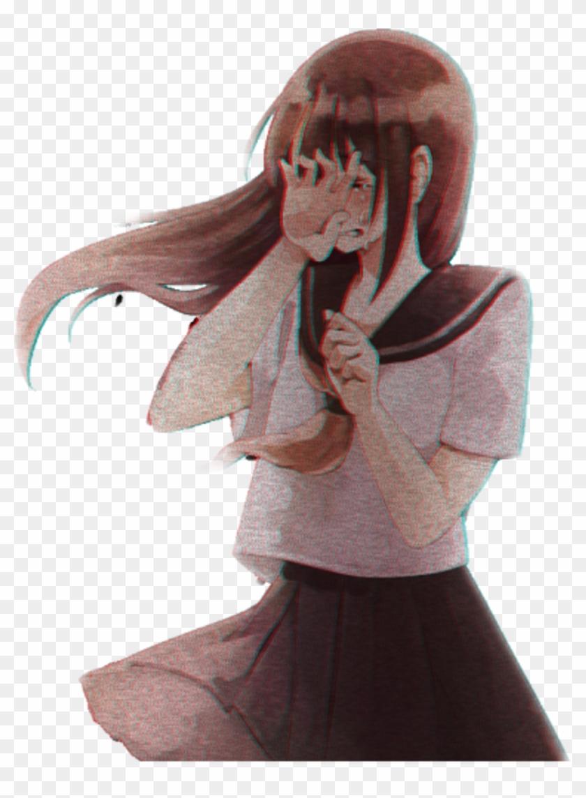 Crying Anime Girl Png - Cry Sad Anime Girl, Transparent Png