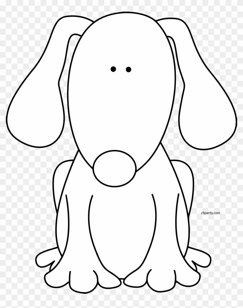 Dog Black White Clipart Png Cute Black And White Dog Clipart