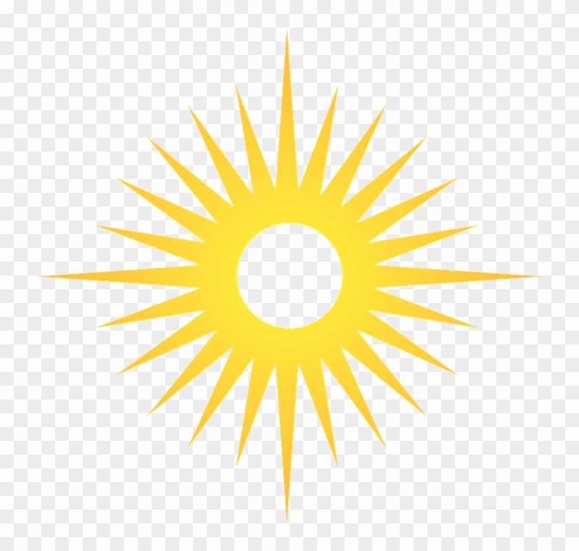 Blazing Shining Sun Marshall Islands Flag Hd Png Download