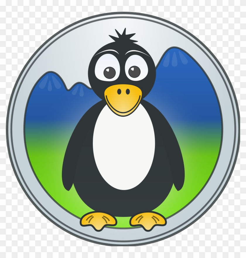 A Penguin In The Mountains Clip Art Download Animali Disegni