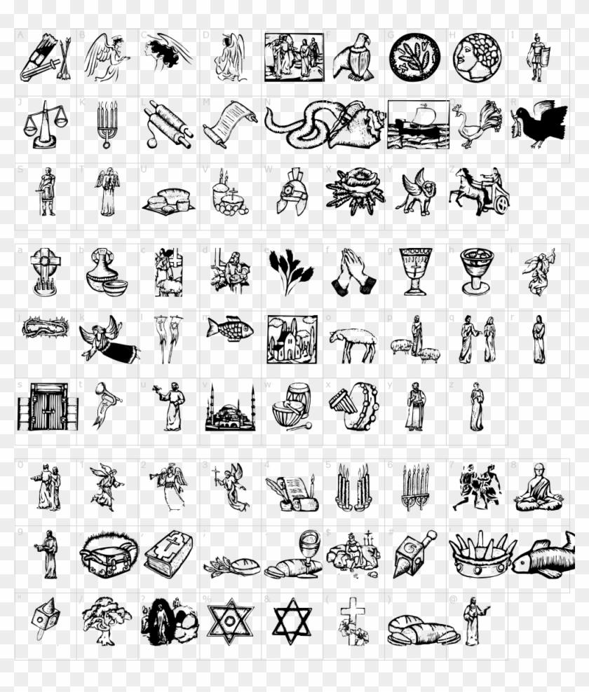 Religious Symbols Font - Ttf Free Download Symbol Font For