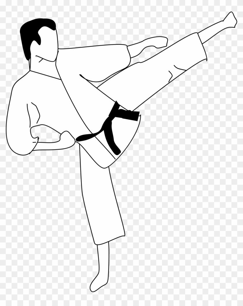 This Free Icons Png Design Of Karate Kick - Karate Black Belt