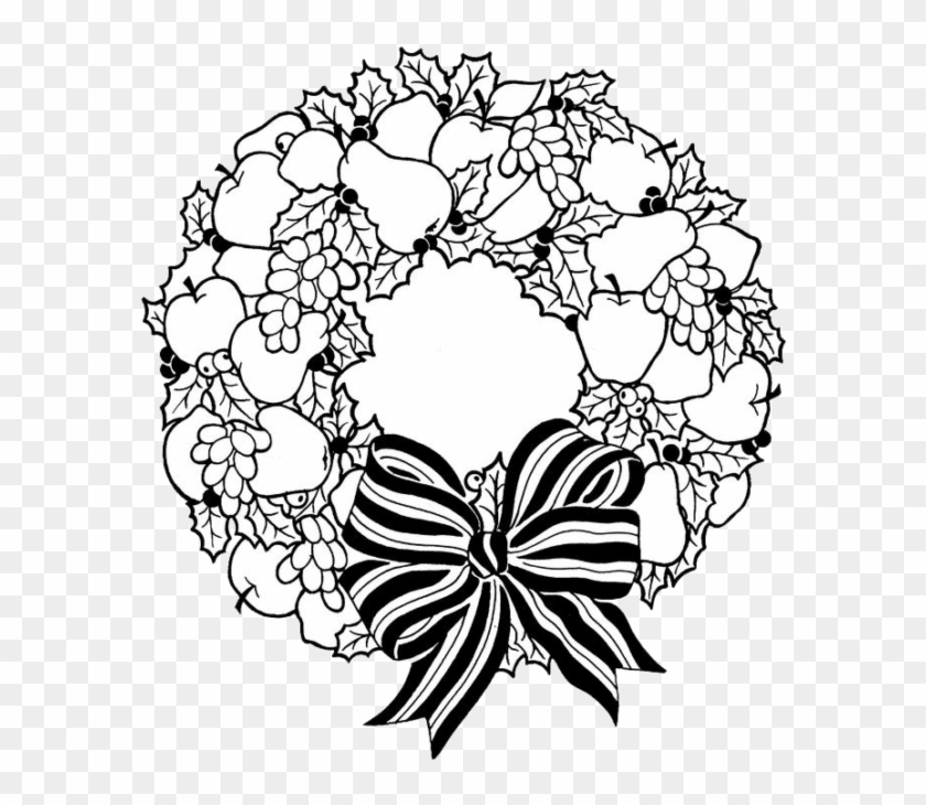 Christmas Wreath Coloring Pages 6 Nice For Kids Christmas