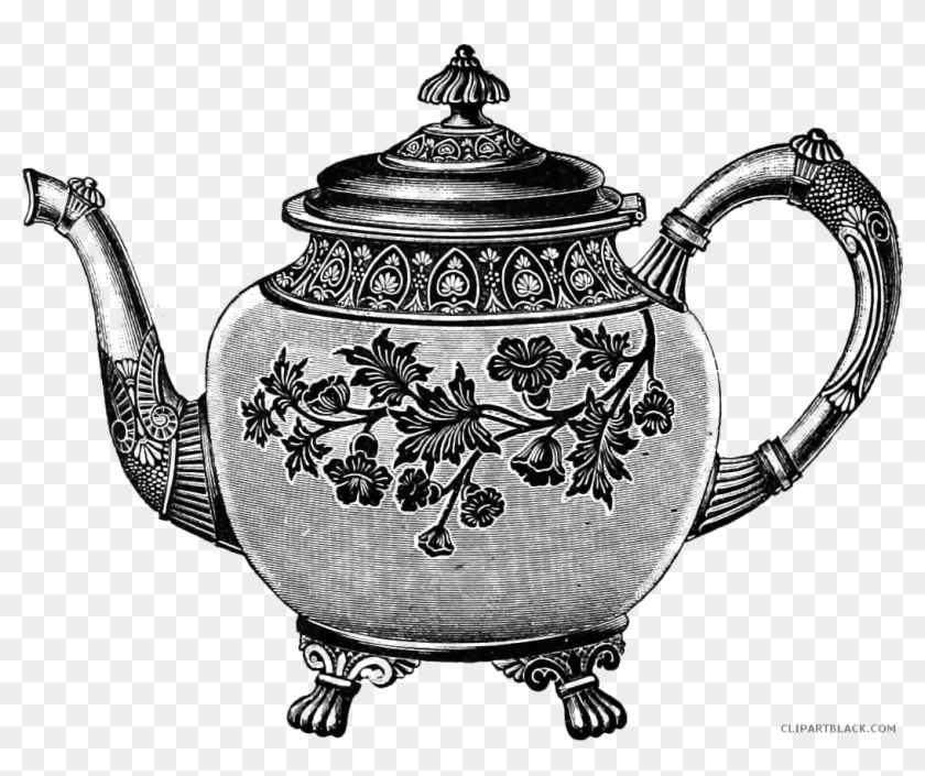 Vintage Teapot Tools Free Black White Clipart Images ...