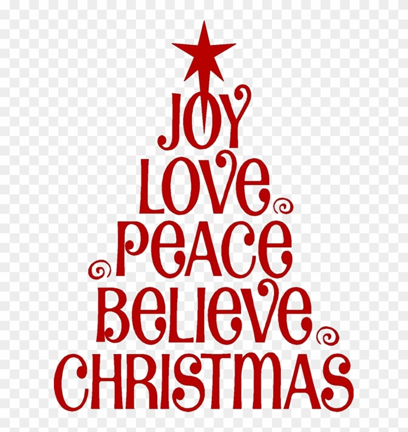 Christmas Quotes Png - Love Joy Peace Christmas, Transparent ...