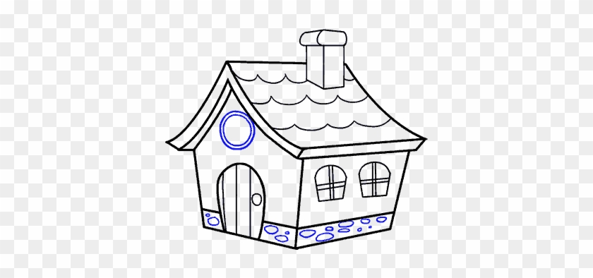 Drawing Houses Nice House Draw A Cartoon House Hd Png Download