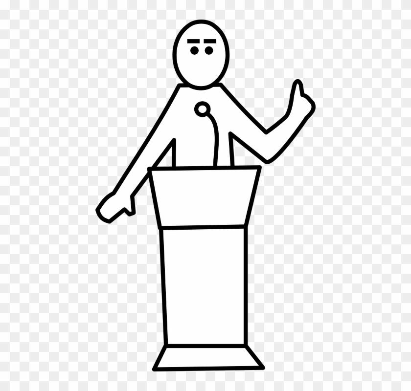 Speaker Podium Presentation Seminar Speech Talk Public Speaking Clipart Free Hd Png Download 450x720 3592030 Pngfind