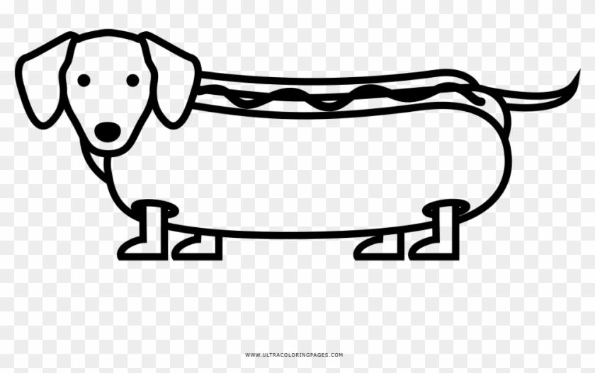 Hot Dog Coloring Page Desenhos Cachorros Para Colorir Hd Png