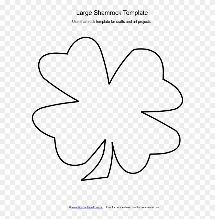 photograph relating to Shamrock Template Printable known as Major Shamrock Template 2416 - Template Printable Shamrock