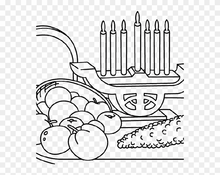 Kwanzaa And The Fresh Fruit Coloring Pages Coloring Book Hd Png Download 564x739 3597465 Pngfind