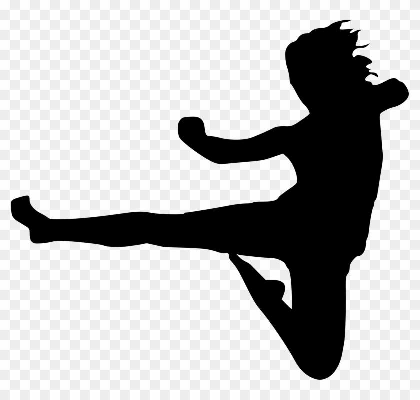 Picture Library Collection Of Ninja Kick High Quality - Karate Kick