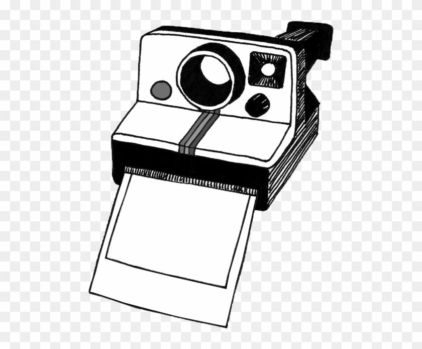 Polaroid Camera Clipart Black And White - Camera Polaroid