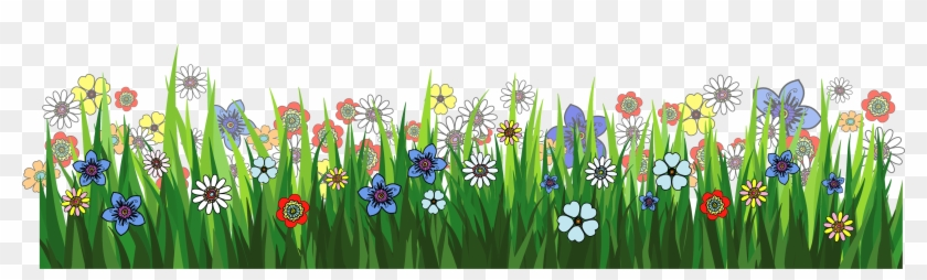 Grass Ground With Flowers Png Picture - Flower Garden