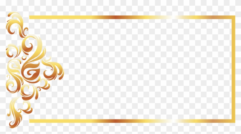 Yellow Recreation Pattern Gold Line Border European - Gold