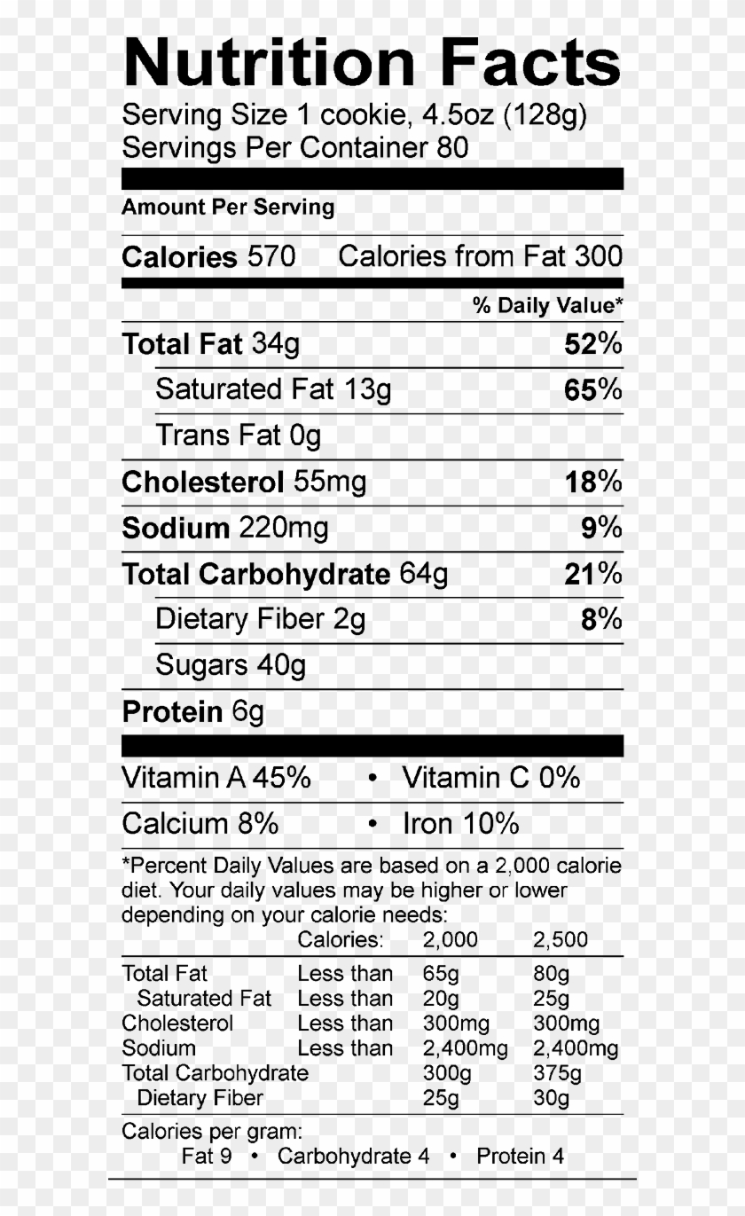Pumpkin White Chocolate Pecan Nutrition Facts Kellogg S Corn Flakes Nutrition Facts Hd Png Download 596x1304 3612396 Pngfind