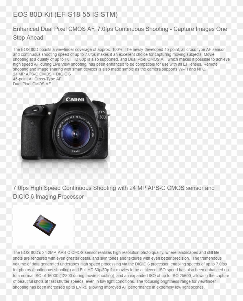Buy Canon Eos 80d Digital Slr Kit Ilization Stm Lens