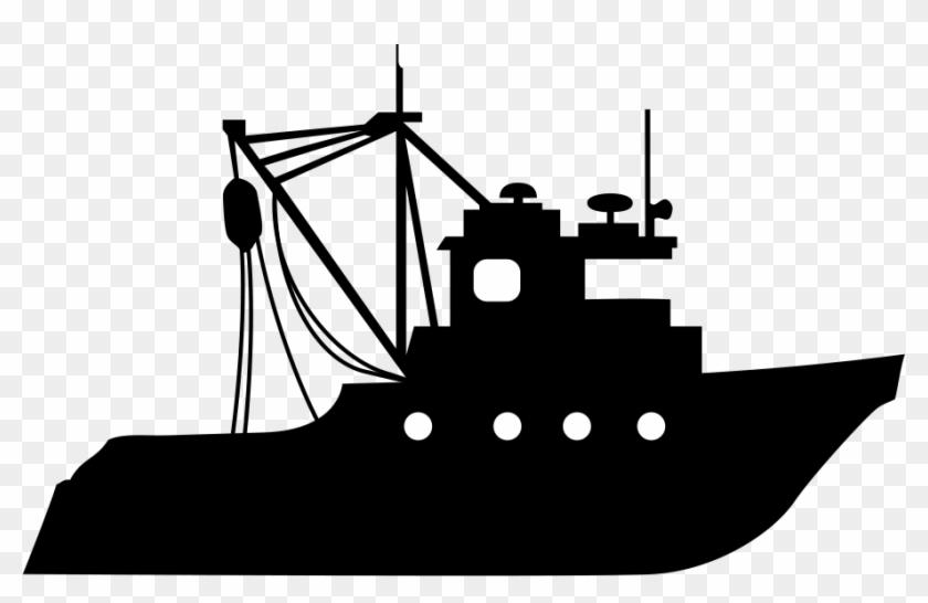 Fmc Dockyard Fishing Silhouette Of A Fishing Boat Hd Png Download 910x549 3632137 Pngfind