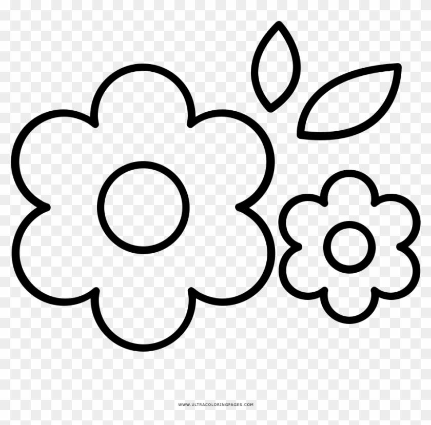 Flores Página Para Colorear Drawing Hd Png Download 1000x1000