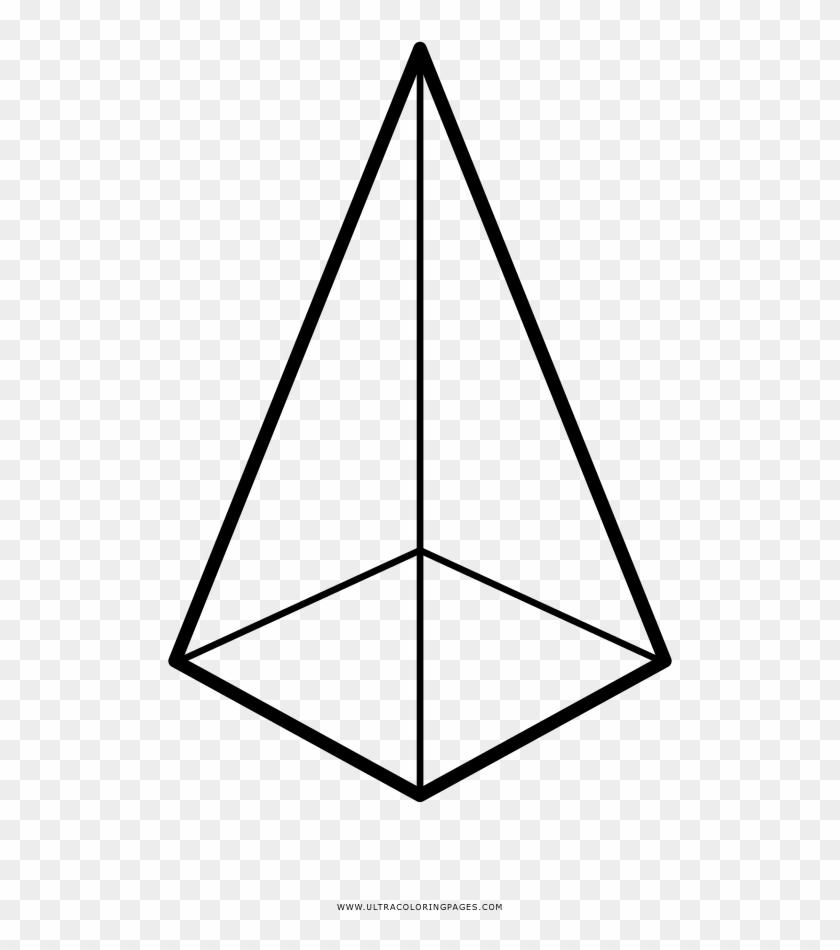 Pyramid Coloring Page Desenho De Piramide Para Colorir Hd Png