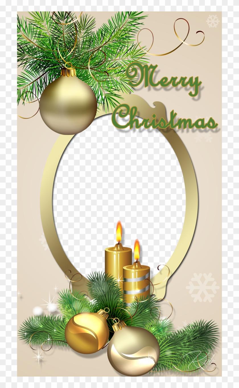 Golden Christmas Frame   Lilin Natal Png, Transparent Png ...