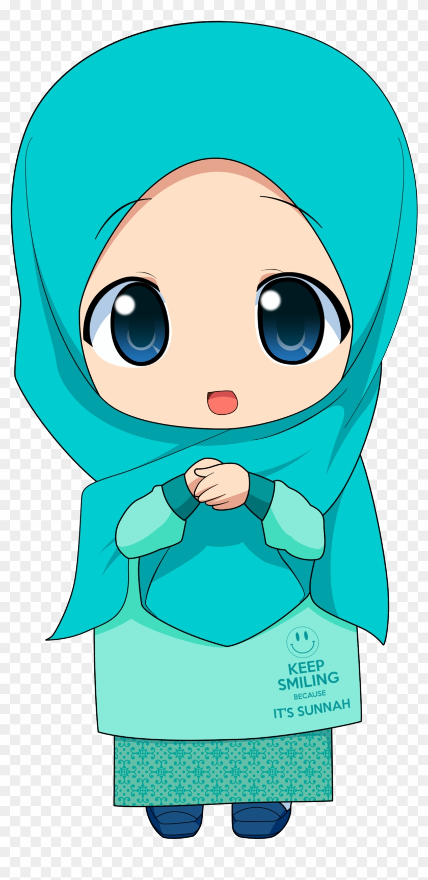 Kartun Muslimah Anime Girl Hijab Transparent