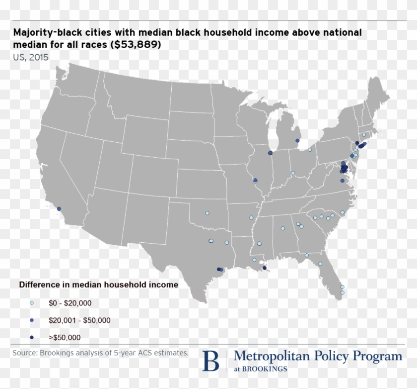 Majority-black Cities With Median Black Household Income ...