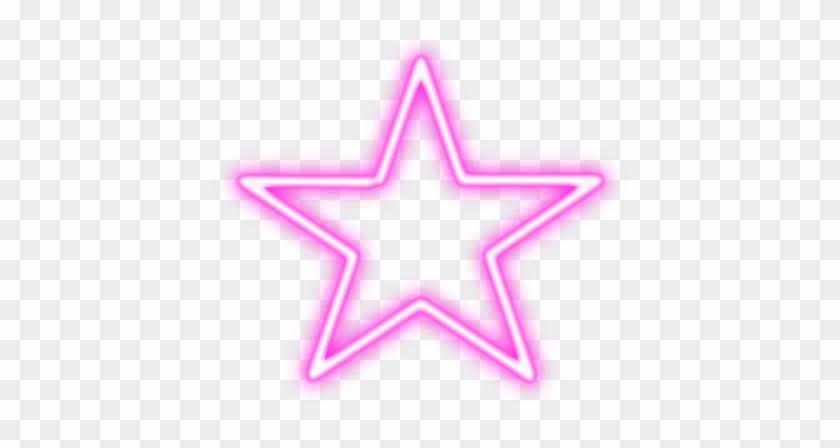 neon #star #stars #pink - Vietnam Flag Clipart Black And