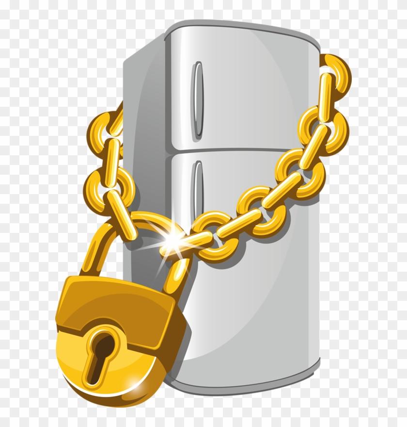 Jar Transparent Lock - Refrigerator Locked, HD Png Download