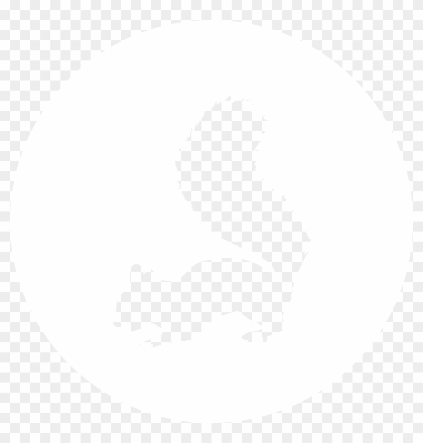 Facebook Icon White Circle Png , Png Download - Illustration