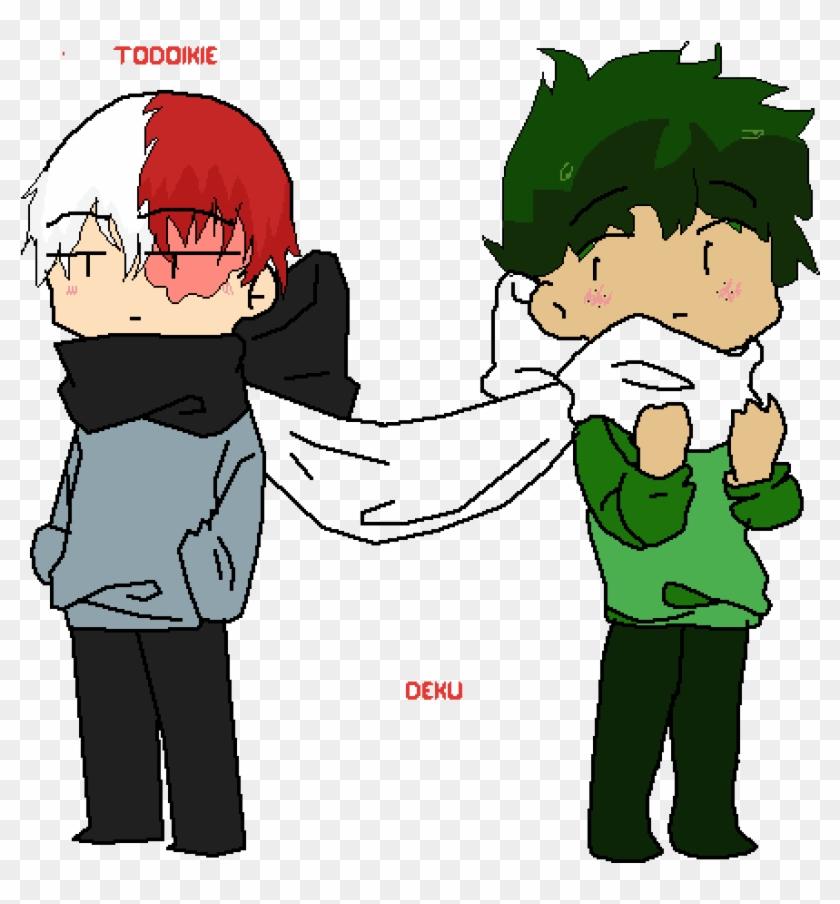 Todoroki And Deku Cartoon Hd Png Download 960x960