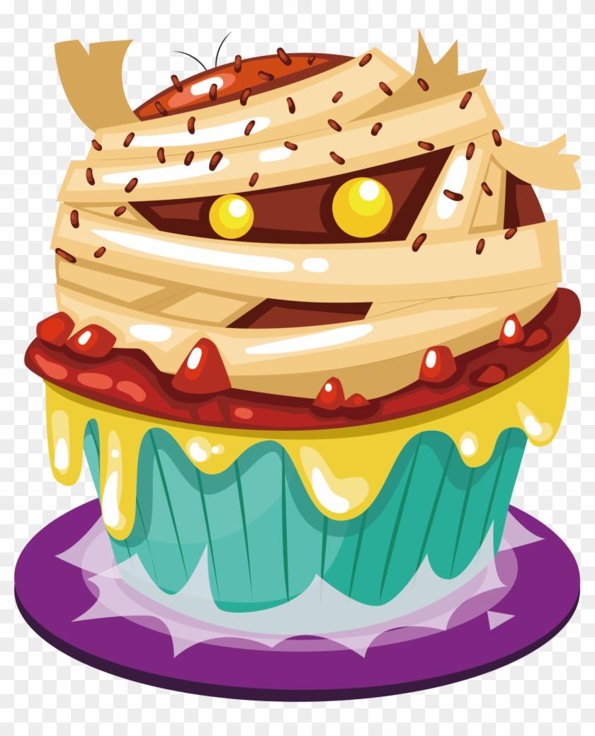 Amazing Cupcake Halloween Cake Birthday Cake Halloween Birthday Cake Png Funny Birthday Cards Online Elaedamsfinfo