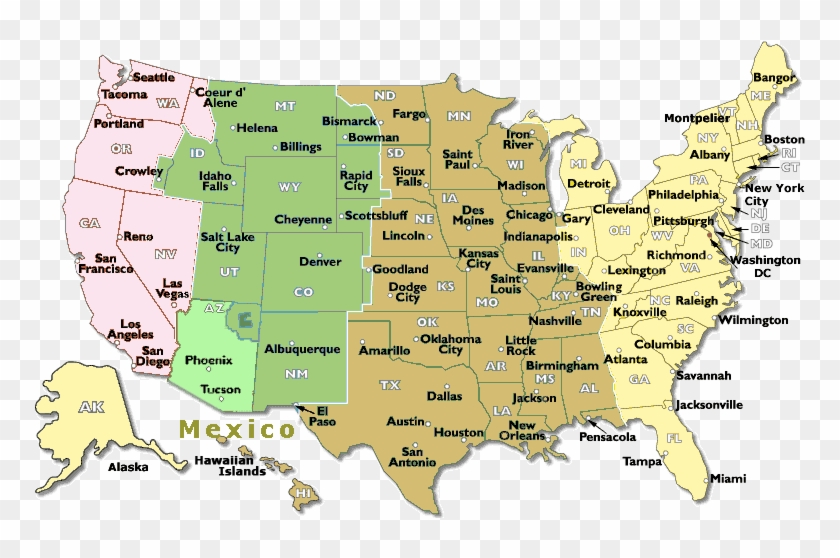 Time Zone Map Usa And Travel Information - Us Time Zones Map ...