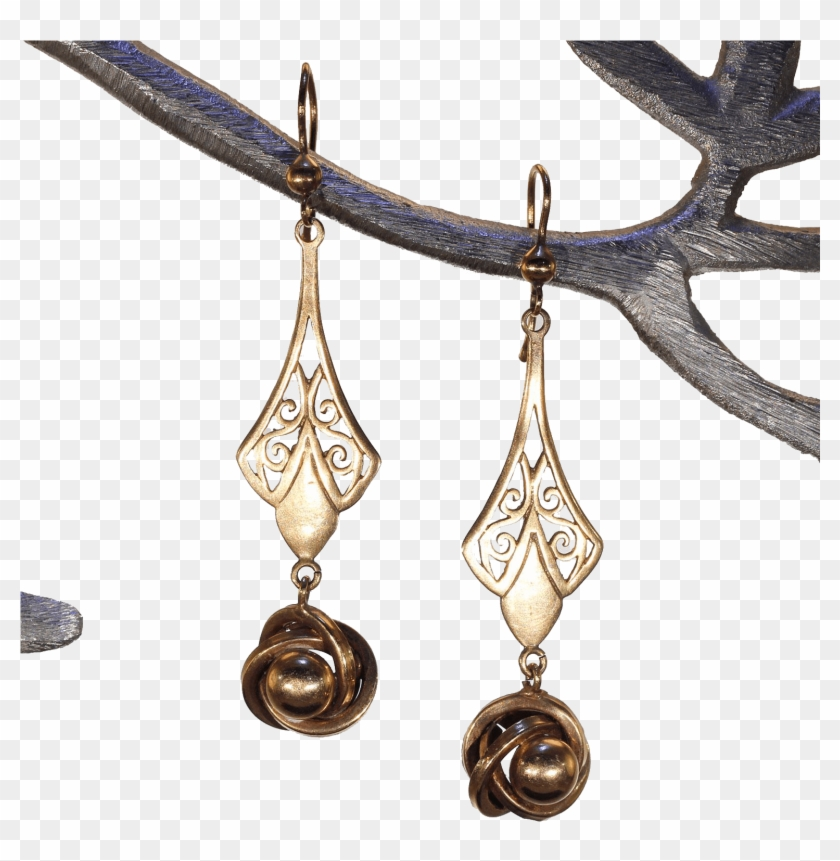 c98a00c8c959c Victoria Sterling Antique - Earrings, HD Png Download - 1536x1536 ...