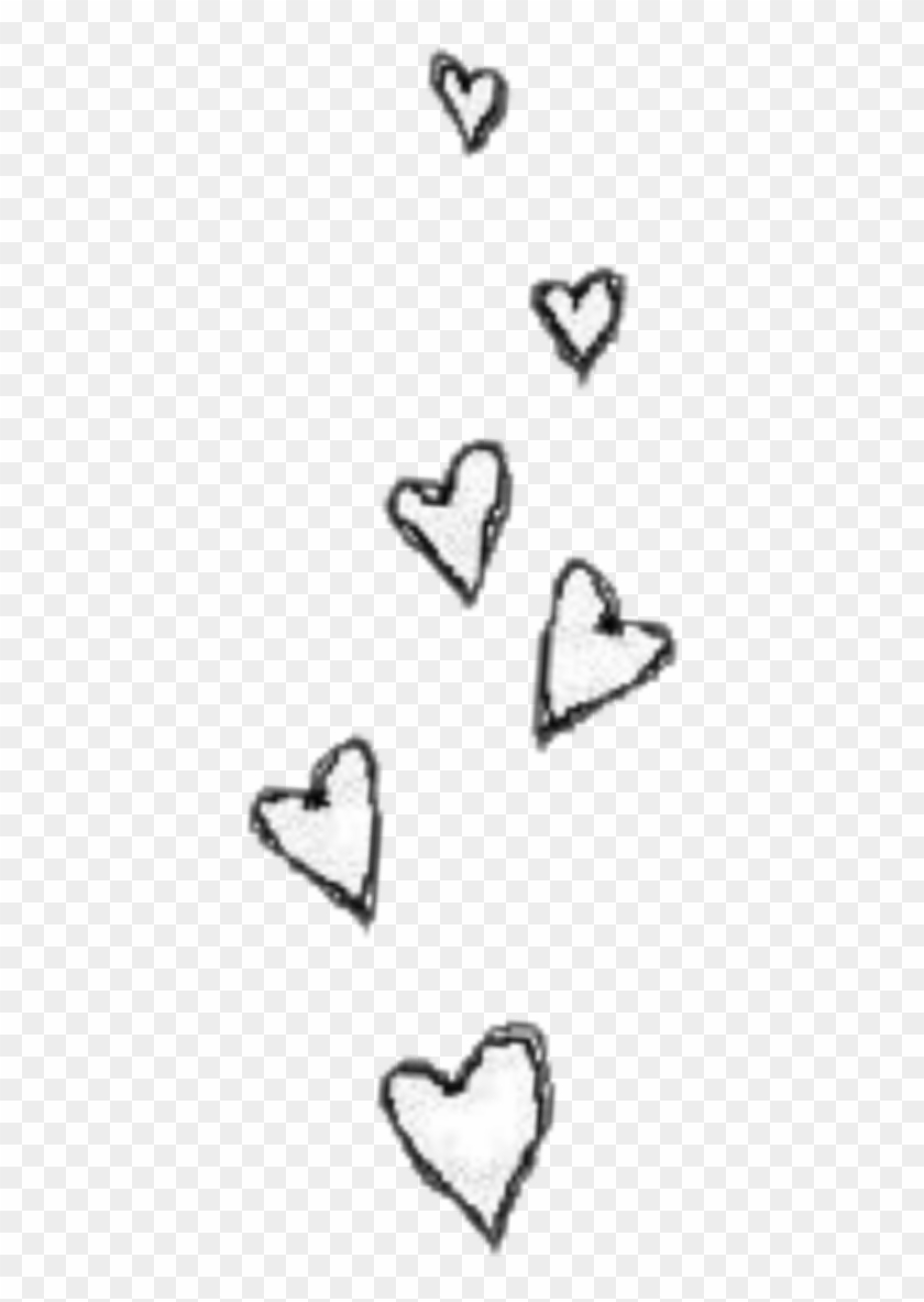 Heart Hearts Tumblr Sticker Blackandwhite Transparent