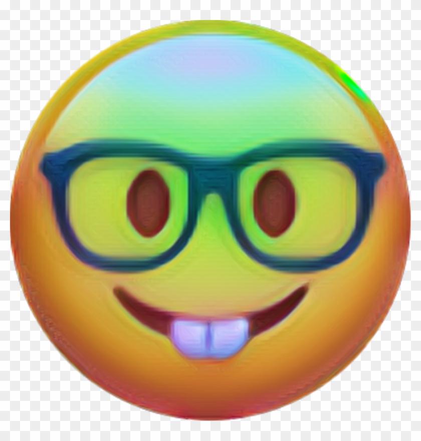 Nerd Emoji Rabbit Party Besserwisser Glasses Schlau