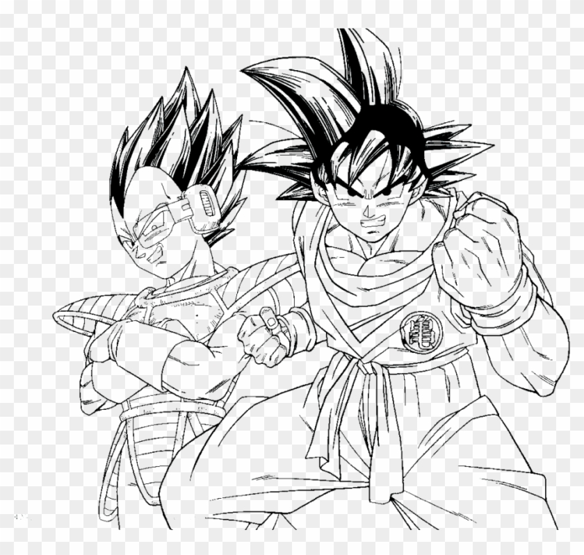 Dragon Ball Fighterz Coloring Pages With Download Dragon - Dragon Ball Z  Cell Coloring Page, HD Png Download - 957x865(#387536) - PngFind