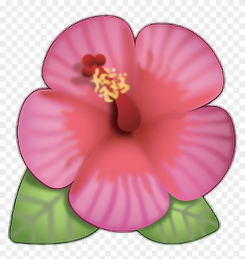 Flor Sticker Flower Emoji With Transparent Background Hd Png