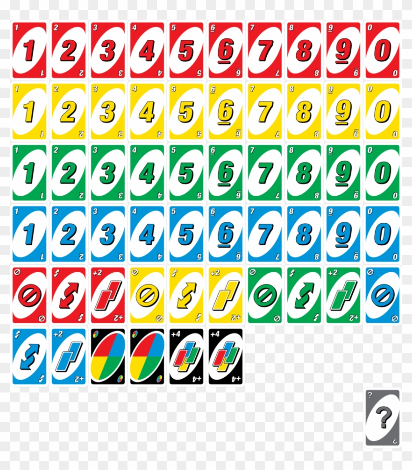 Cards Are In An Uno Deck, Transparent Png