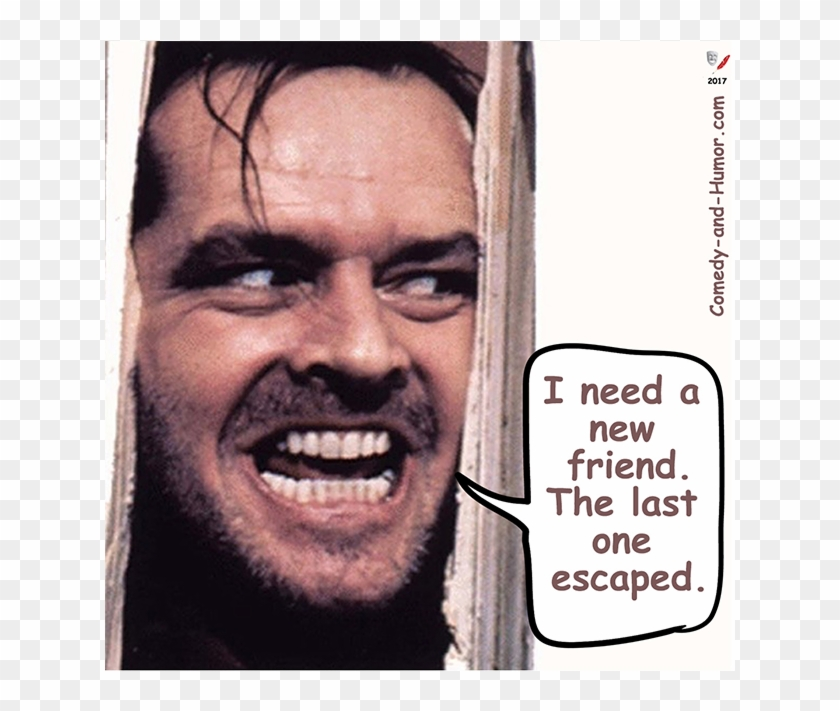 Jack Nicholson In The Shining Heres Johnny With Axe Hd