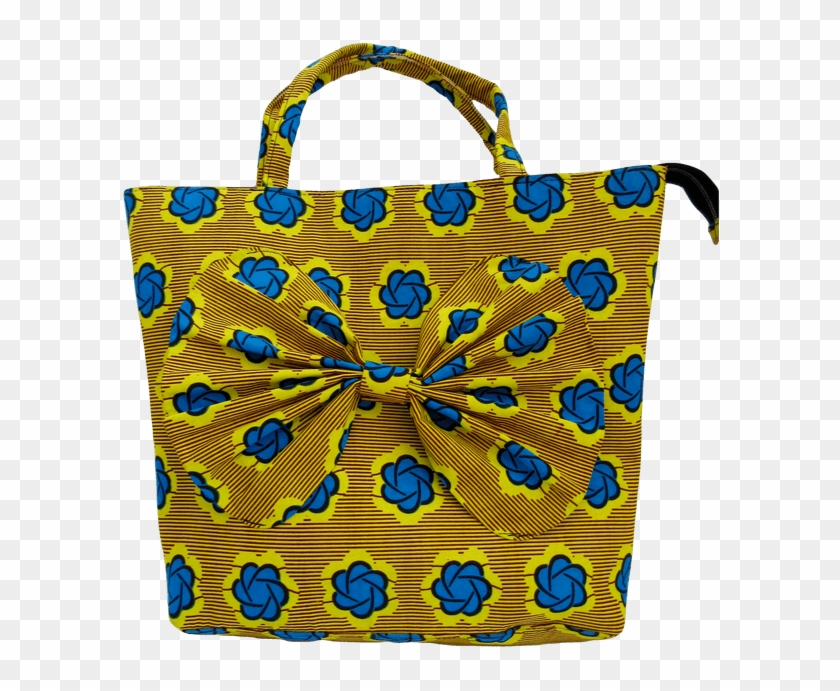 77abb413f7bd Gorgeous Blue And Yellow Handmade African Print Handbag - Handmade African  Print Bags, HD Png