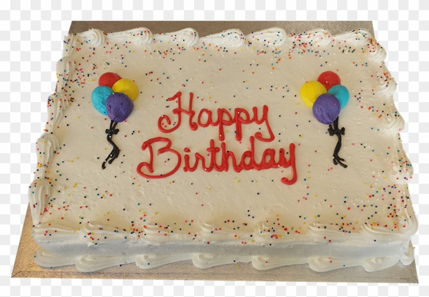 Balloon Decorated Slab Birthday Cake Hd Png Download 1000x1000
