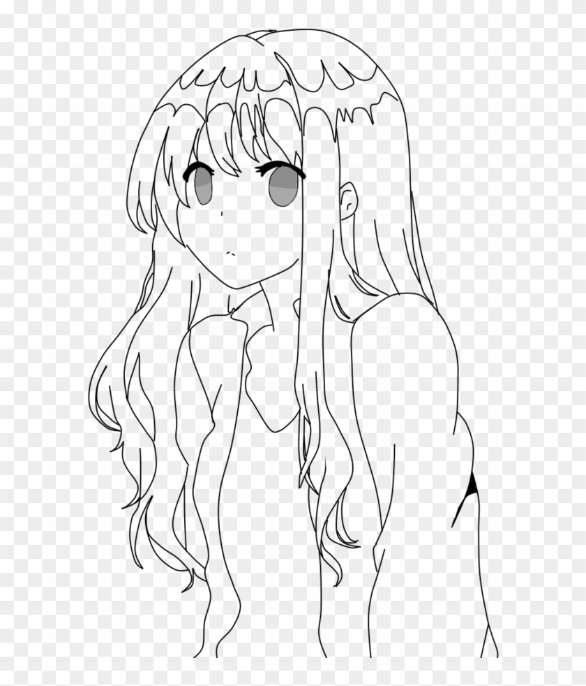 Anime base line art hd png download